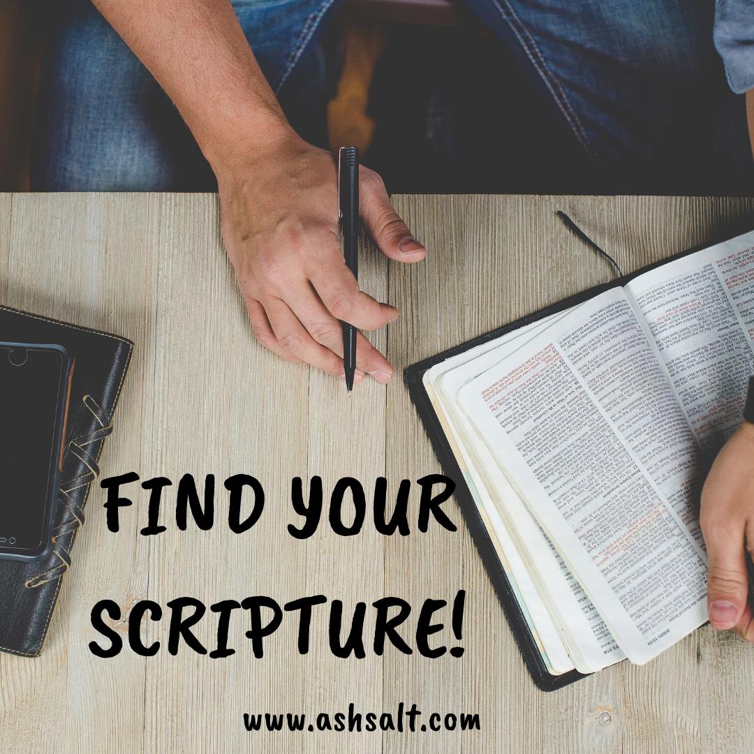 FIND YOUR SCRIPTURES